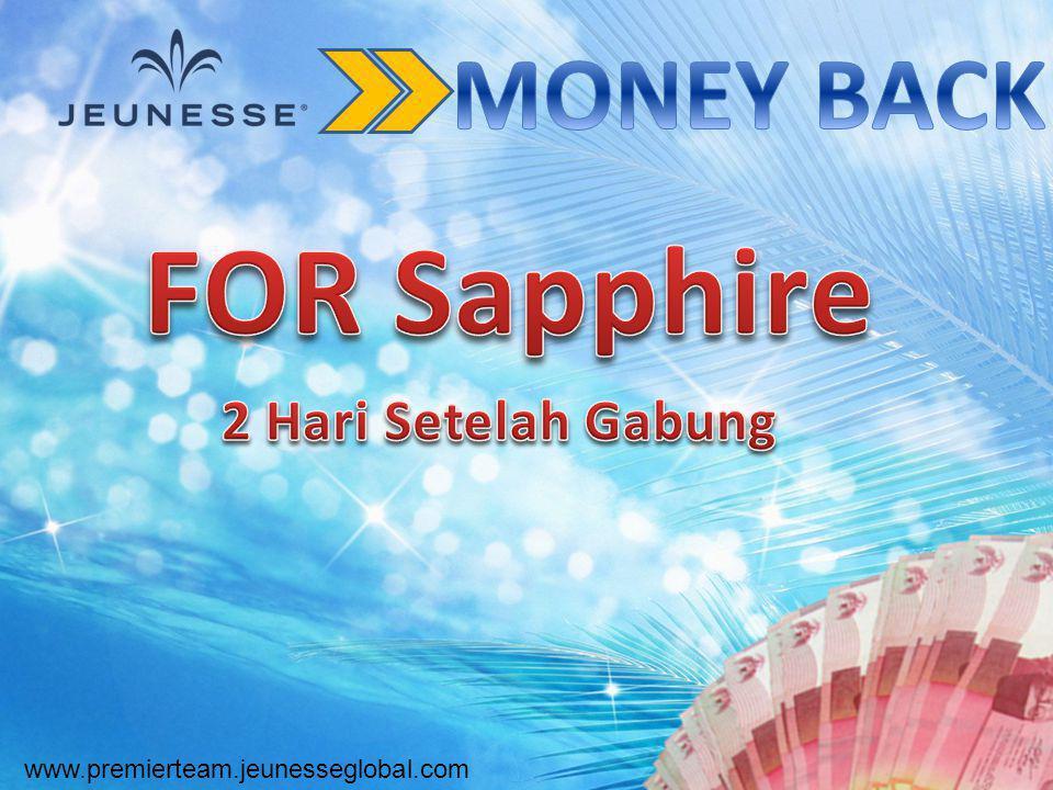 FOR Sapphire MONEY BACK 2 Hari Setelah Gabung