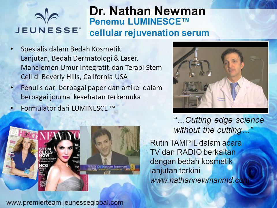 Dr. Nathan Newman Penemu LUMINESCE™ cellular rejuvenation serum