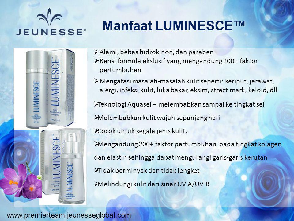 Manfaat LUMINESCE™ Alami, bebas hidrokinon, dan paraben