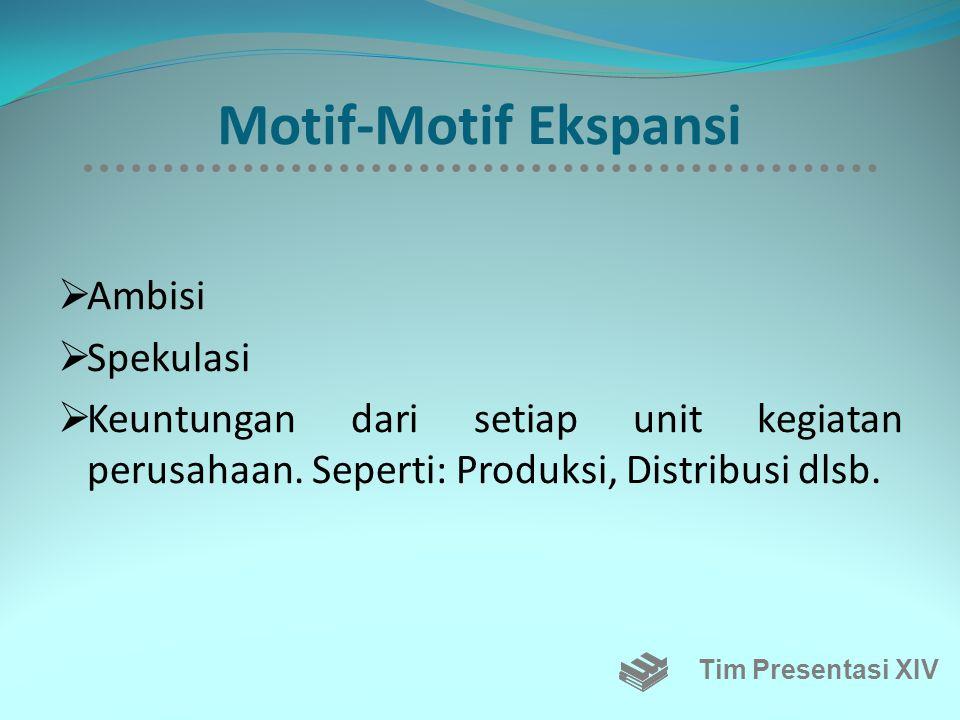 Motif-Motif Ekspansi Ambisi Spekulasi