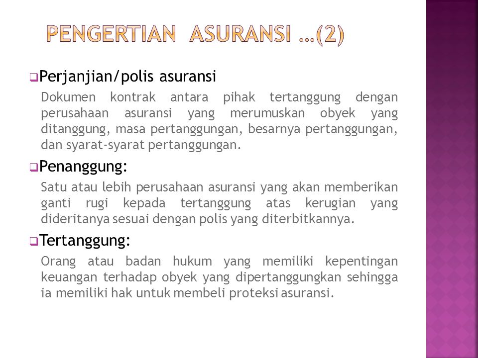PENGERTIAN ASURANSI …(2)