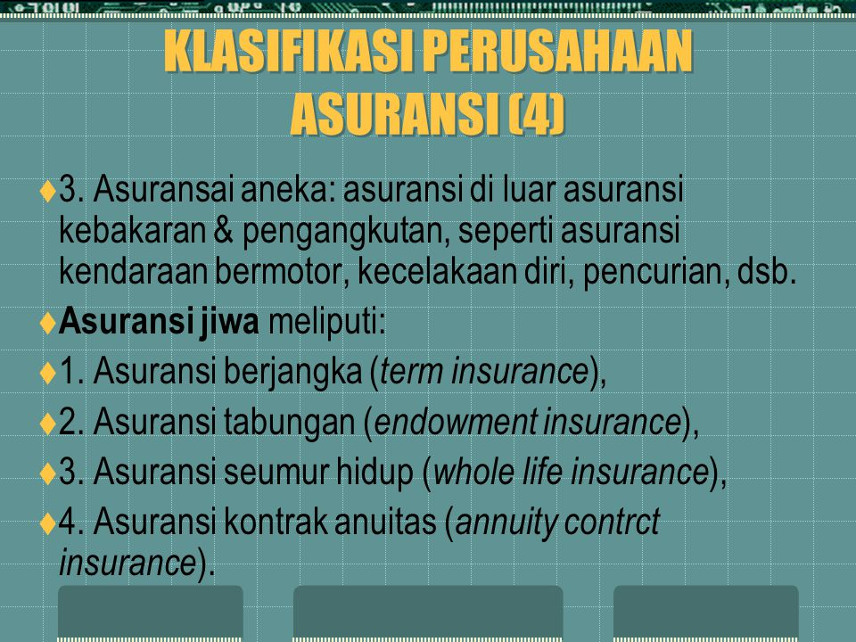 KLASIFIKASI PERUSAHAAN ASURANSI (4)