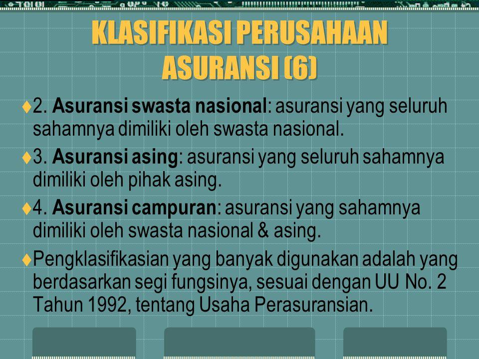 KLASIFIKASI PERUSAHAAN ASURANSI (6)