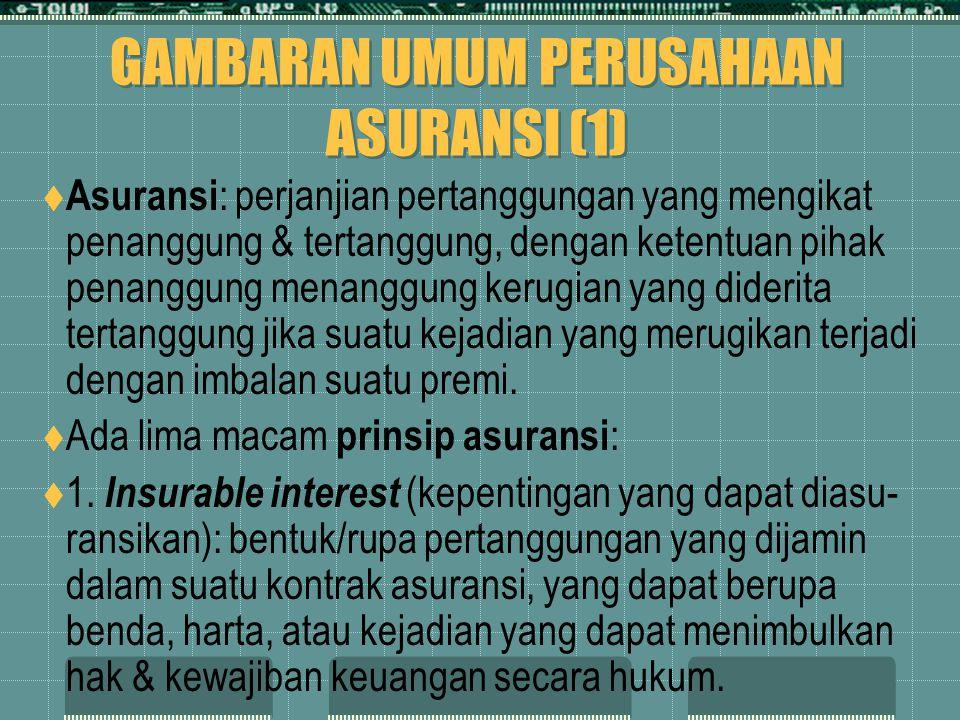 GAMBARAN UMUM PERUSAHAAN ASURANSI (1)