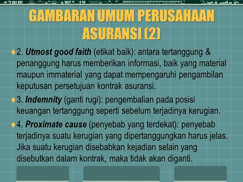 GAMBARAN UMUM PERUSAHAAN ASURANSI (2)