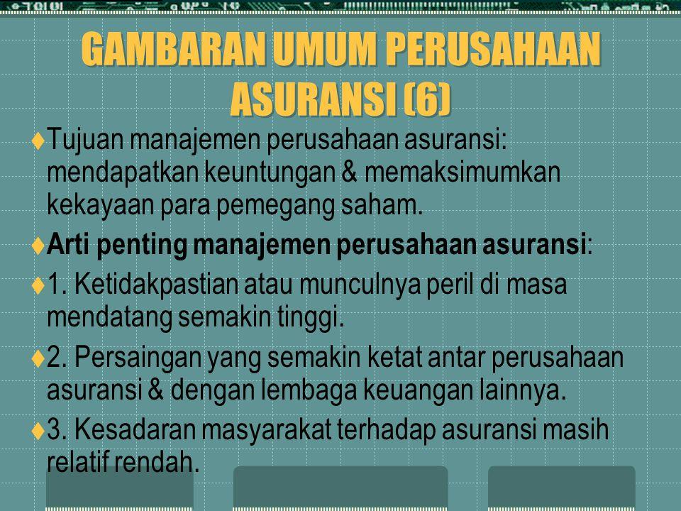 GAMBARAN UMUM PERUSAHAAN ASURANSI (6)