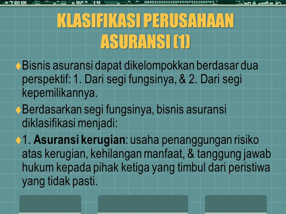 KLASIFIKASI PERUSAHAAN ASURANSI (1)