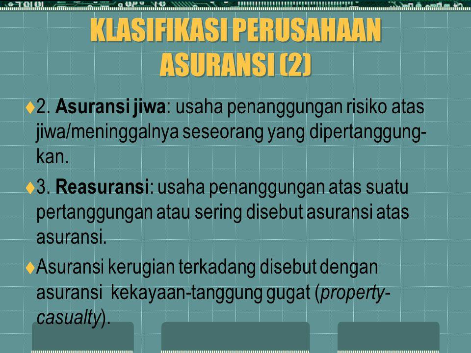 KLASIFIKASI PERUSAHAAN ASURANSI (2)