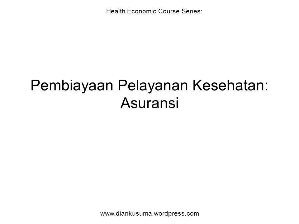 Pembiayaan Pelayanan Kesehatan: Asuransi