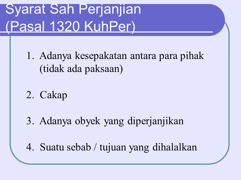 Syarat Sah Perjanjian (Pasal 1320 KuhPer)