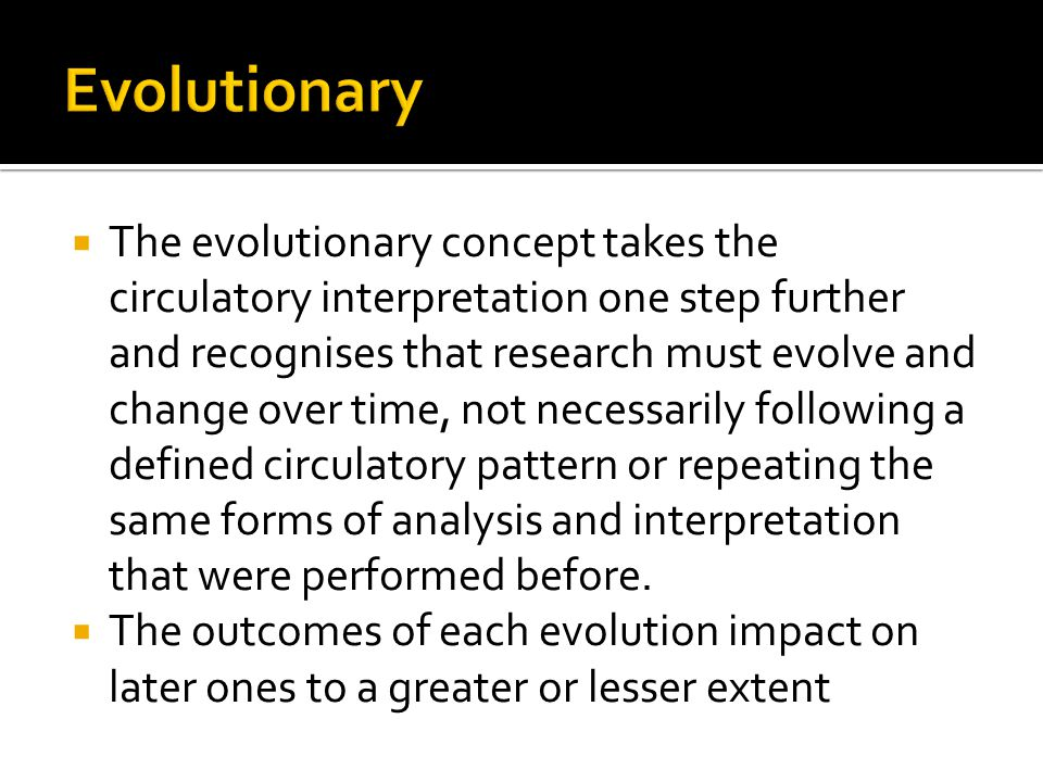 Evolutionary