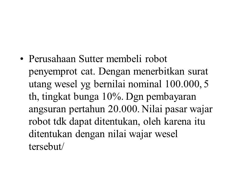 Perusahaan Sutter membeli robot penyemprot cat