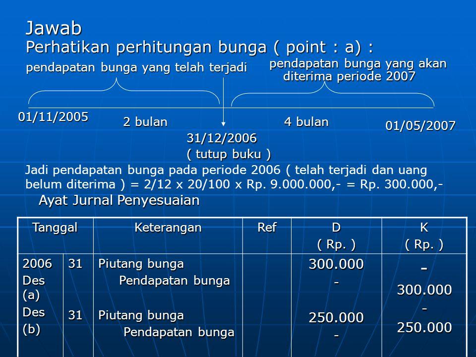 Jawab Perhatikan perhitungan bunga ( point : a) : 300.000 250.000
