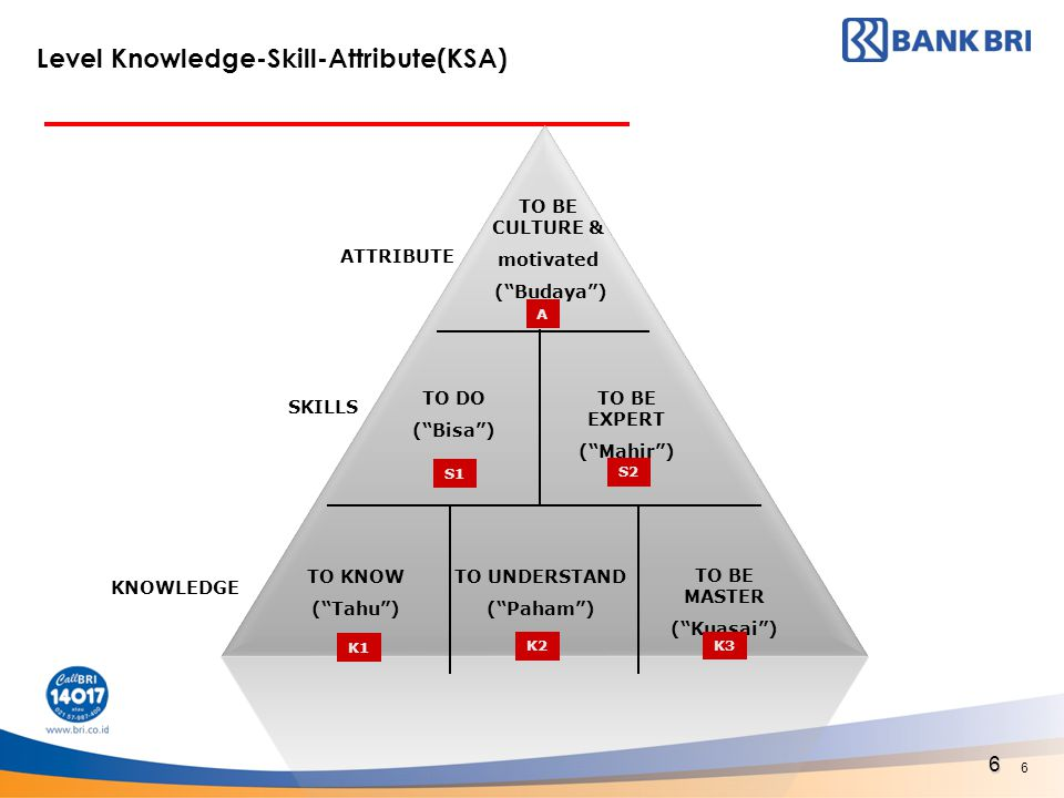 Level Knowledge-Skill-Attribute(KSA)
