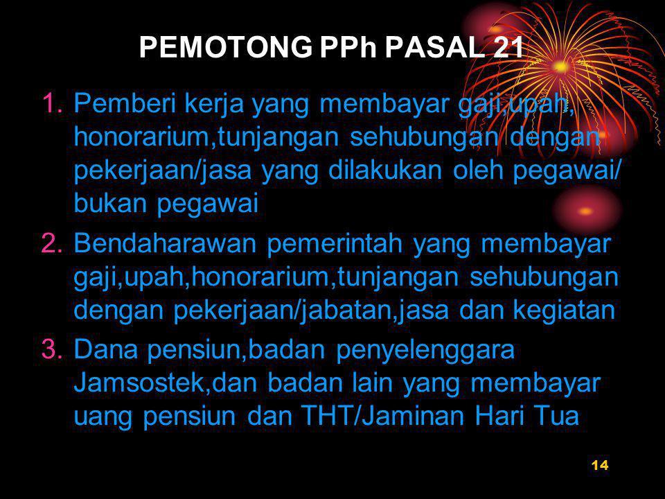 PEMOTONG PPh PASAL 21