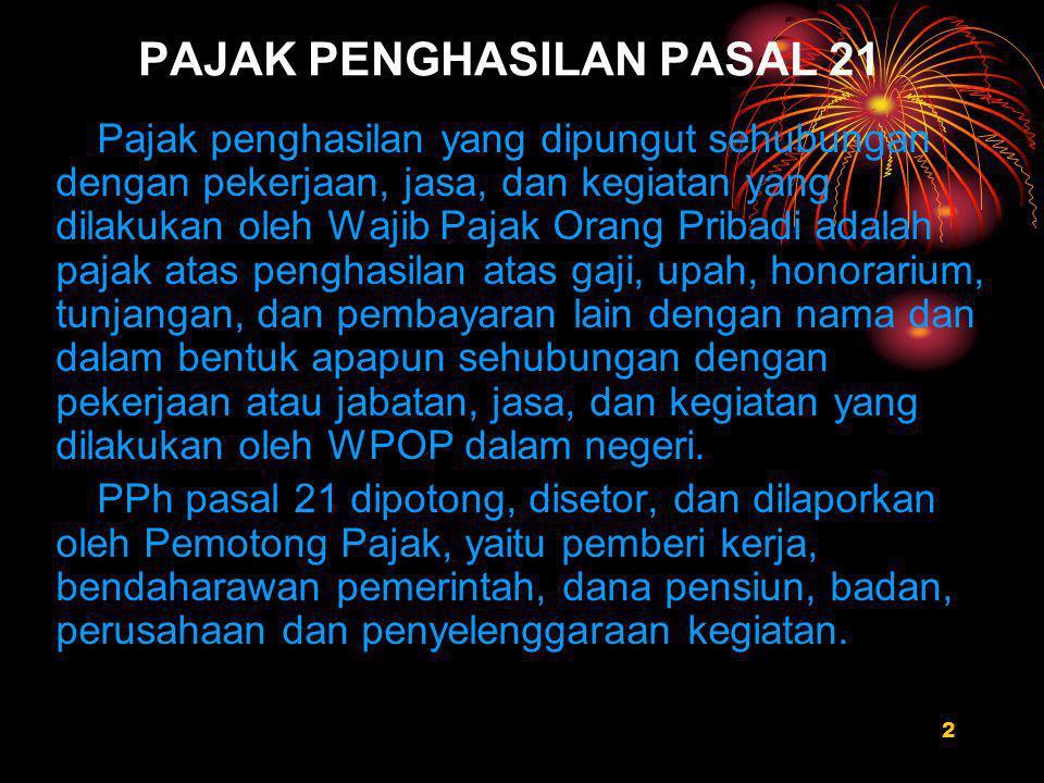 PAJAK PENGHASILAN PASAL 21