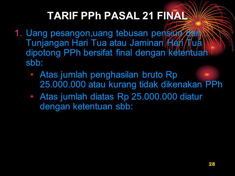 TARIF PPh PASAL 21 FINAL