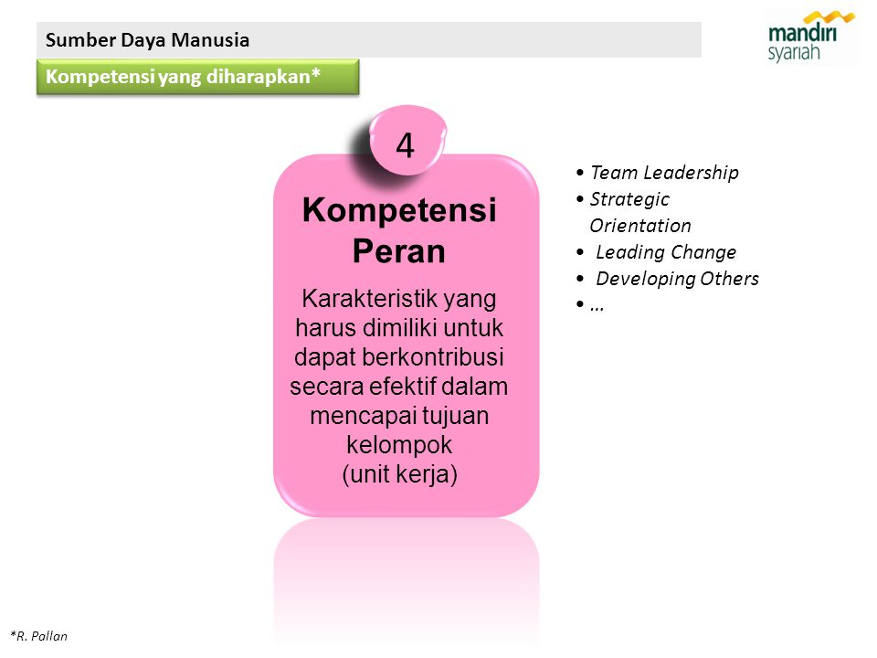 Sumber Daya Manusia Kompetensi yang diharapkan* 4. Team Leadership. Strategic. Orientation. Leading Change.