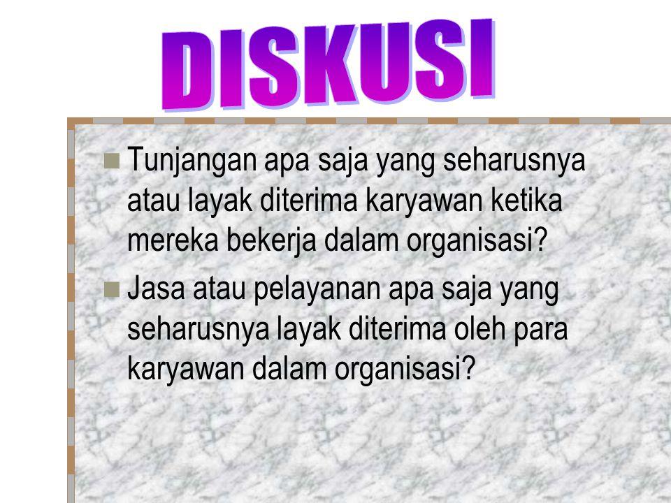 DISKUSI Tunjangan apa saja yang seharusnya atau layak diterima karyawan ketika mereka bekerja dalam organisasi
