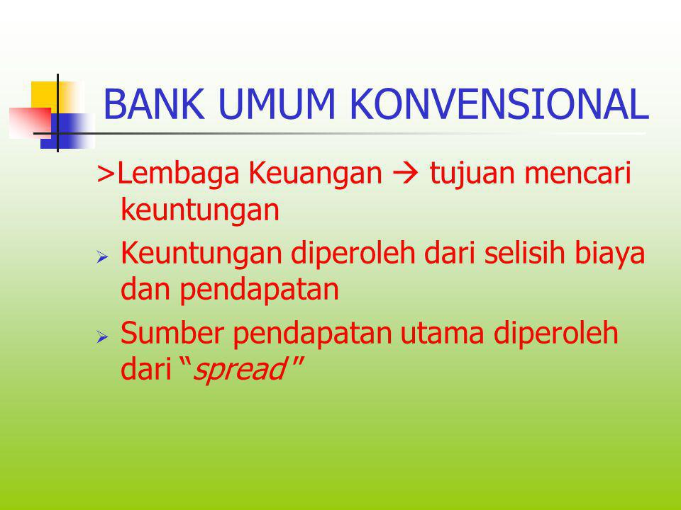 BANK UMUM KONVENSIONAL