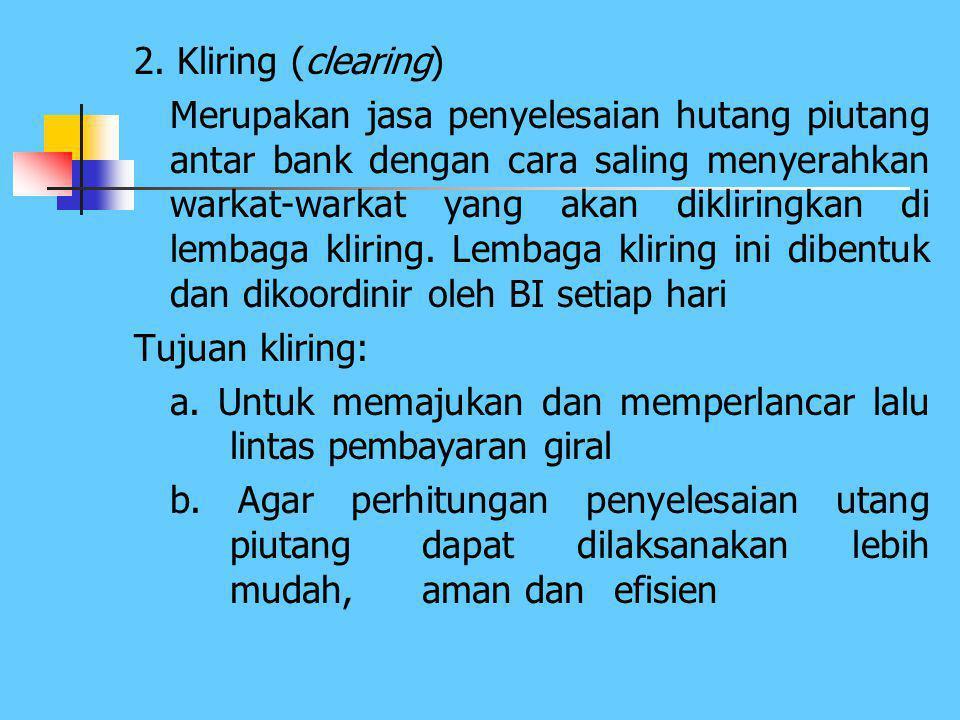 2. Kliring (clearing)
