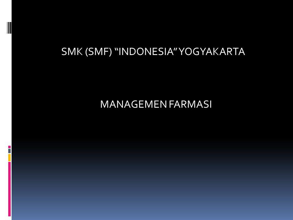 SMK (SMF) INDONESIA YOGYAKARTA