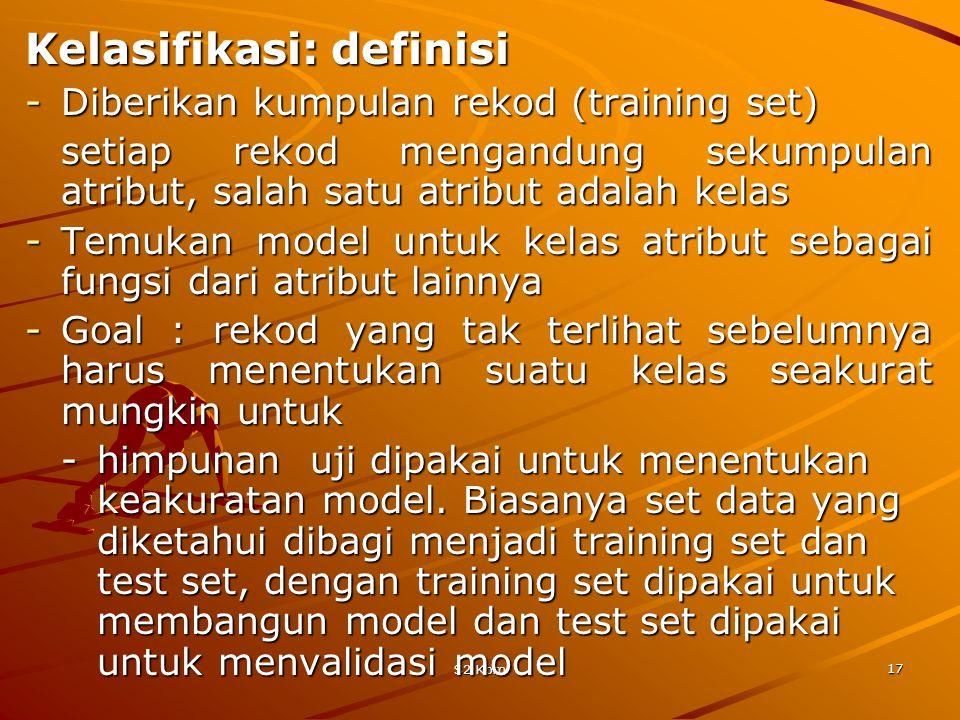 Kelasifikasi: definisi