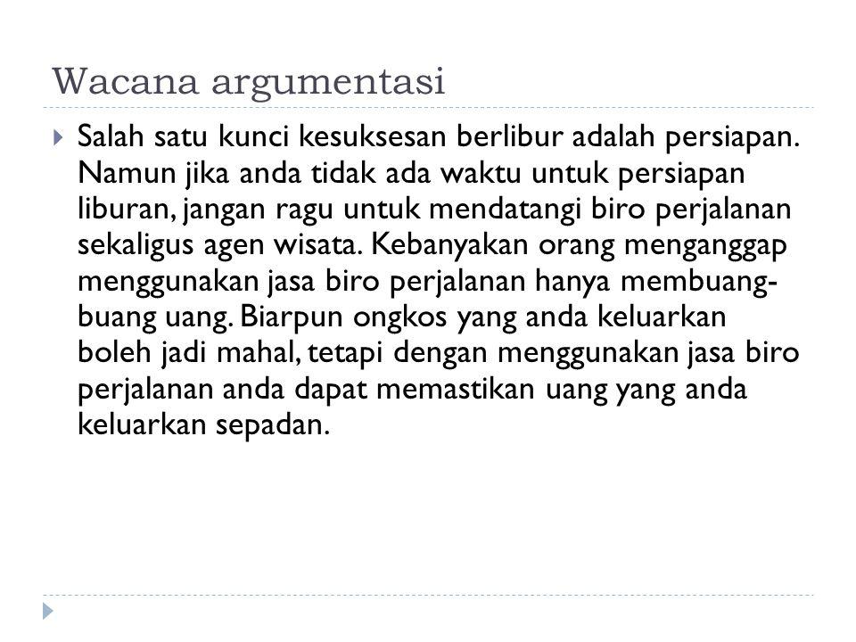 Wacana argumentasi