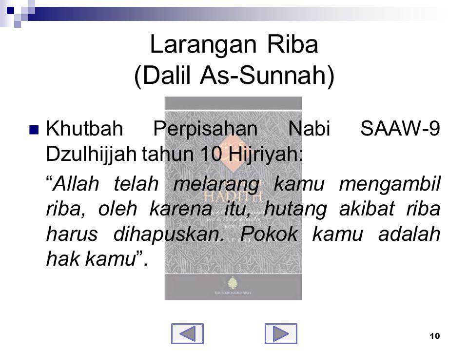 Larangan Riba (Dalil As-Sunnah)-samb.