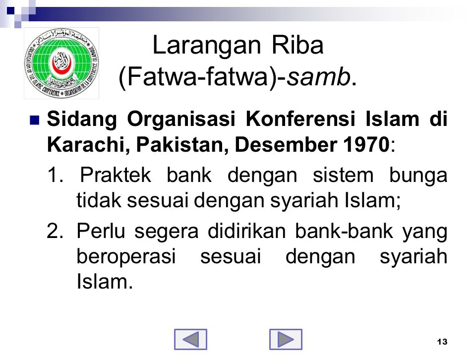 Larangan Riba (Fatwa-fatwa)-samb.