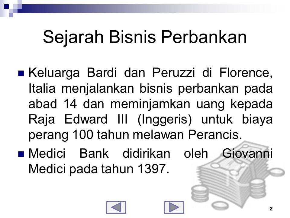 Sejarah Bisnis Perbankan