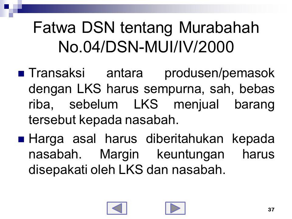 Fatwa DSN tentang Murabahah No.04/DSN-MUI/IV/2000-samb.