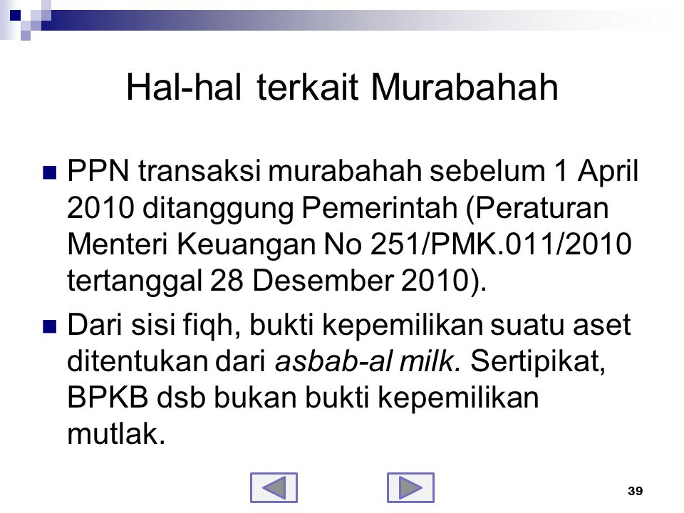 Hal-hal terkait Murabahah-samb.