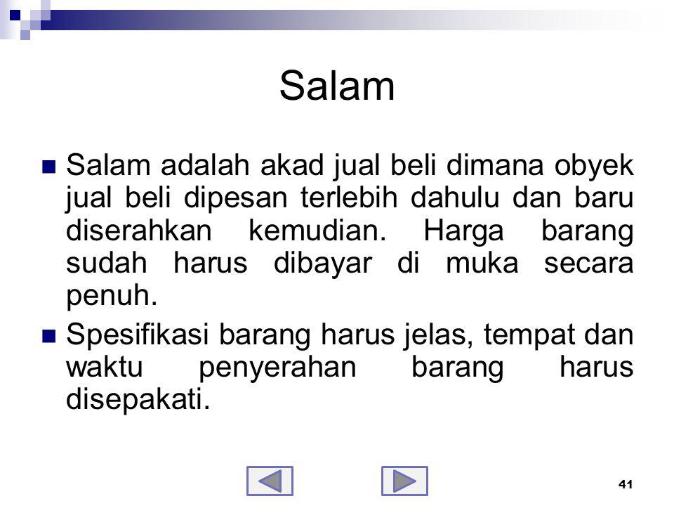 Fatwa DSN tentang Salam No.05/DSN-MUI/IV/2000