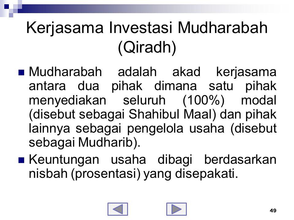 Jenis – jenis Mudharabah