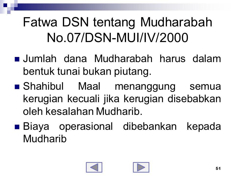 Fatwa DSN tentang Mudharabah No.07/DSN-MUI/IV/2000 - samb