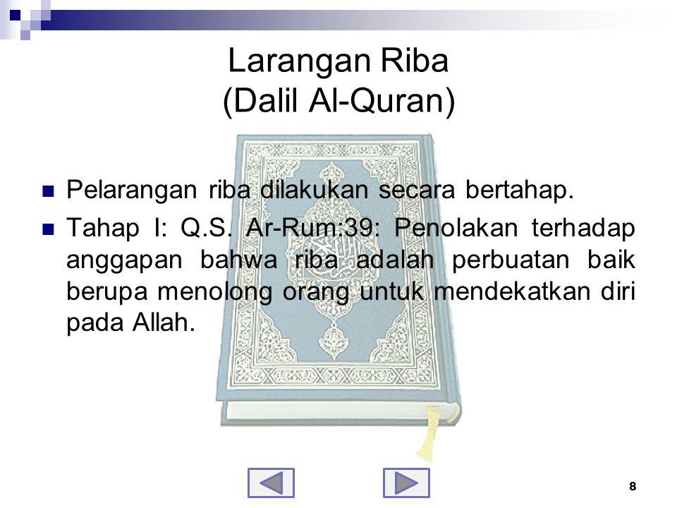 Larangan Riba (Dalil Al-Quran)-samb.
