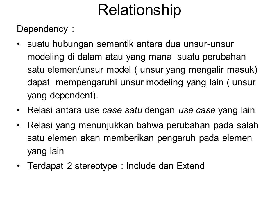 Relationship Dependency :