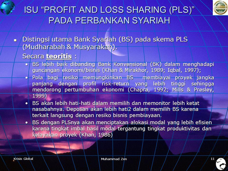 ISU PROFIT AND LOSS SHARING (PLS) PADA PERBANKAN SYARIAH