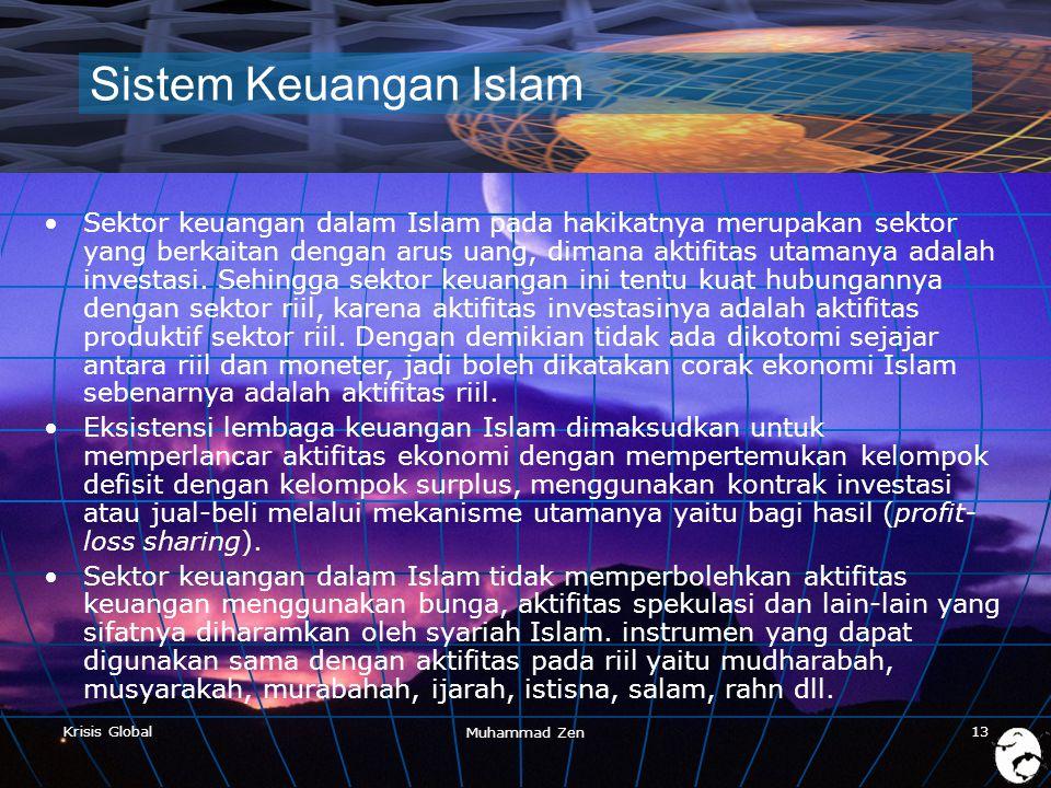 Muhammad Zen 4/3/2017. Sistem Keuangan Islam.