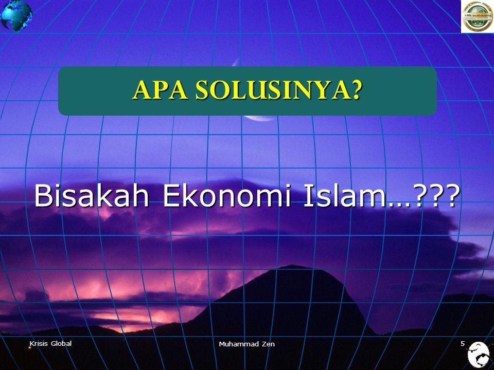 Bisakah Ekonomi Islam…