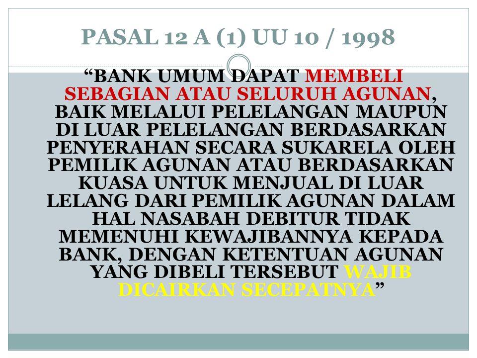 PASAL 12 A (1) UU 10 / 1998