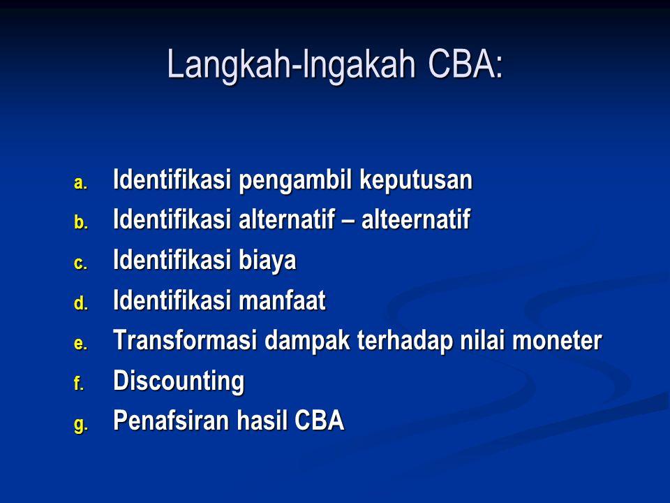 Langkah-lngakah CBA: Identifikasi pengambil keputusan