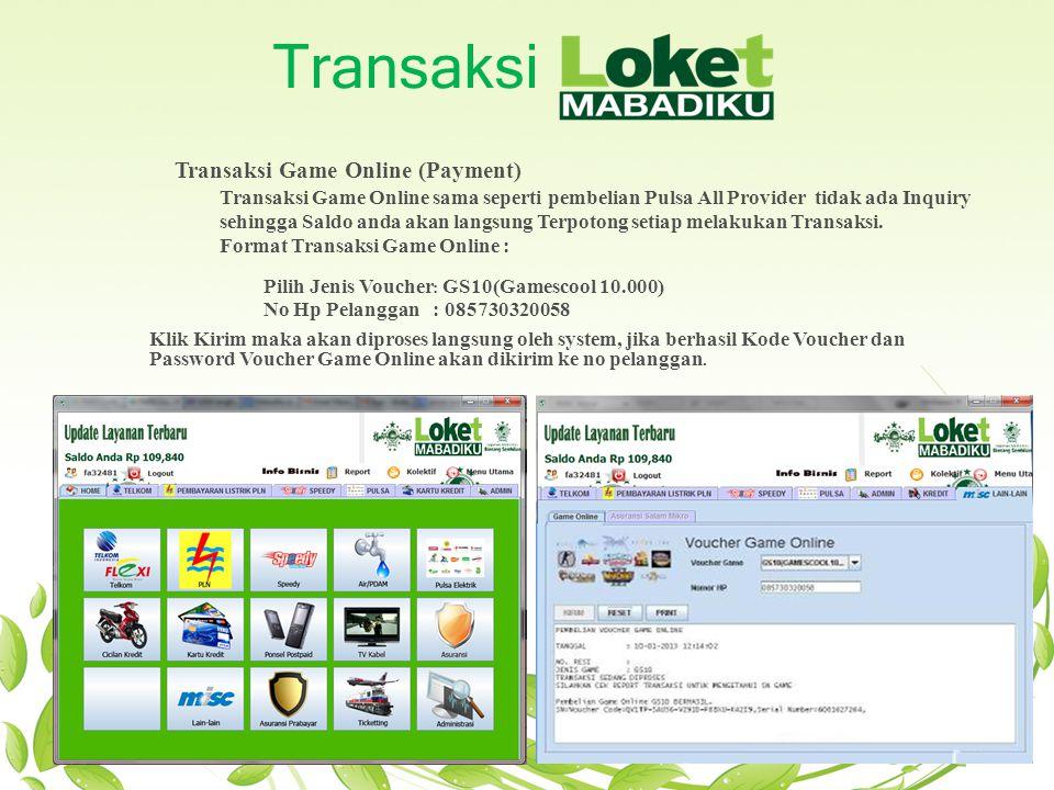 Transaksi Transaksi Game Online (Payment)