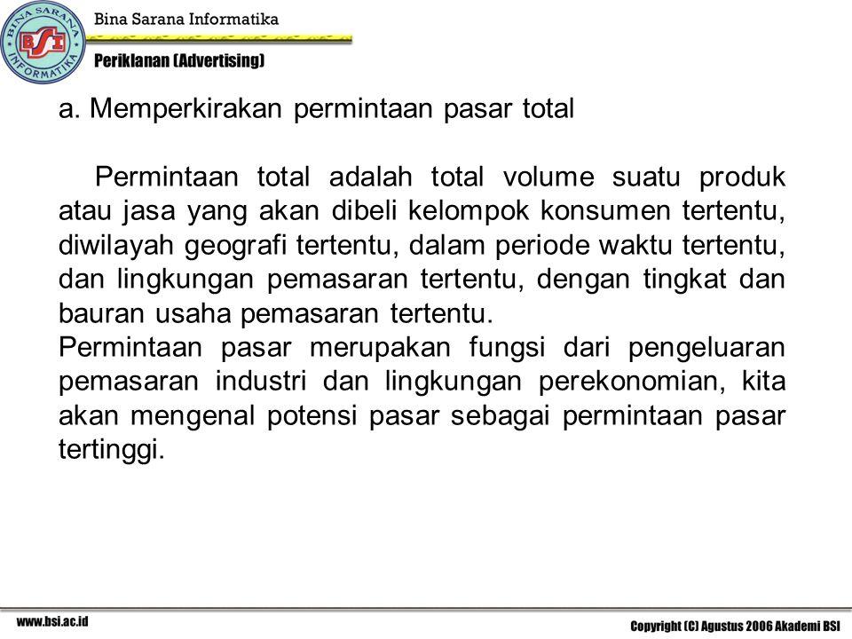 a. Memperkirakan permintaan pasar total