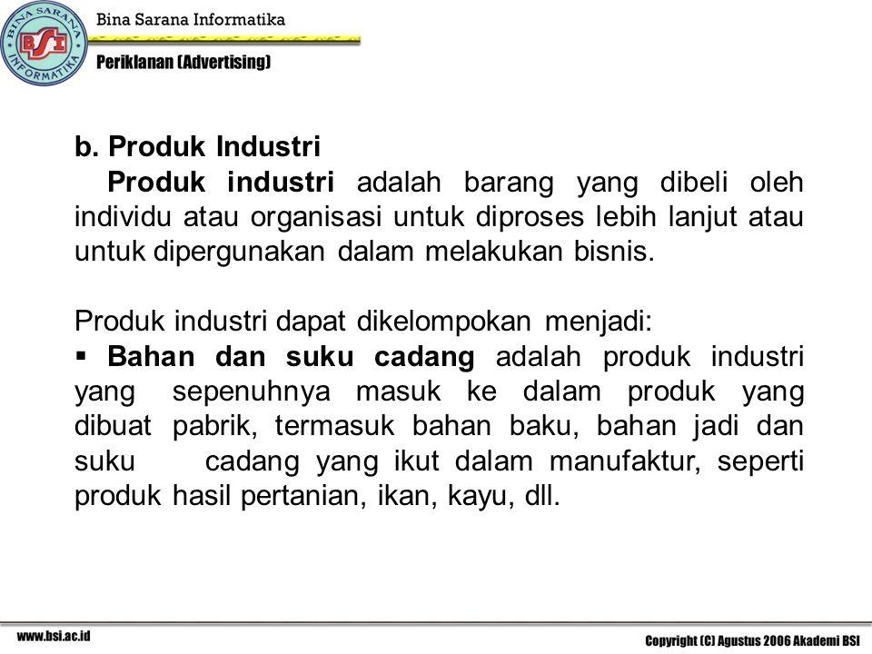 b. Produk Industri