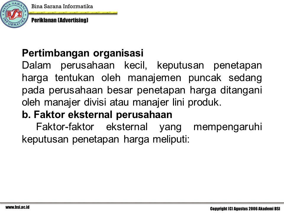 Pertimbangan organisasi
