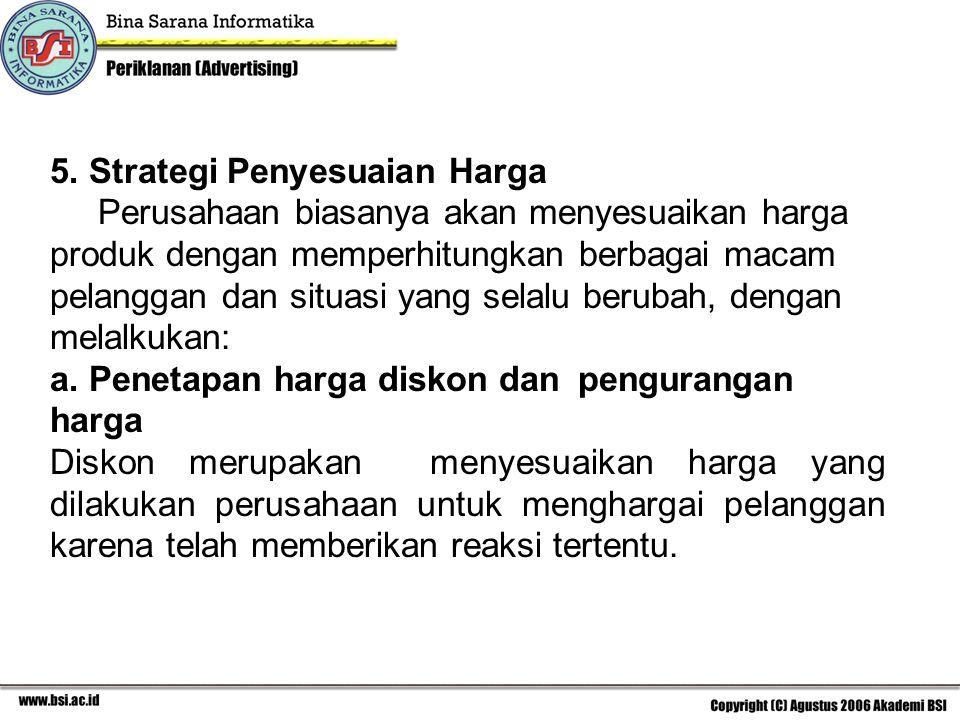 5. Strategi Penyesuaian Harga