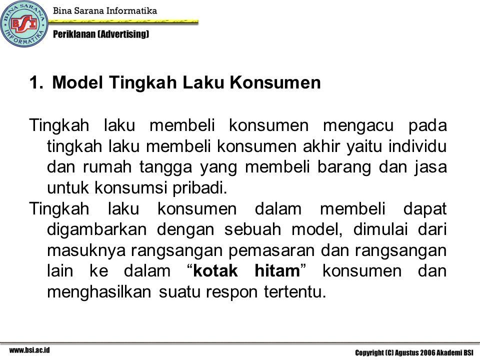 Model Tingkah Laku Konsumen