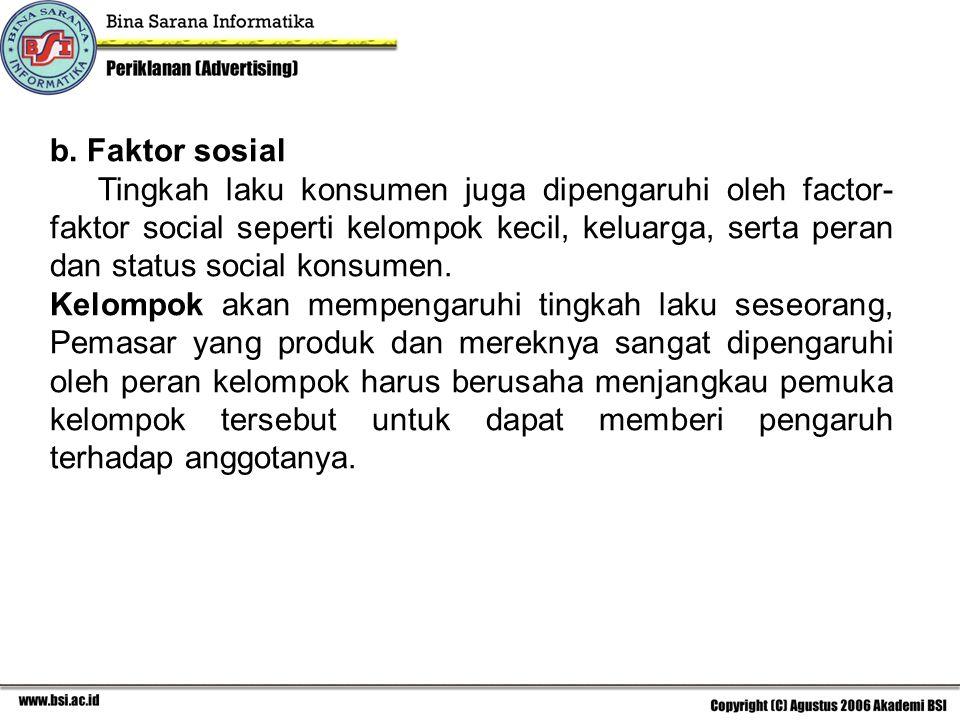 b. Faktor sosial